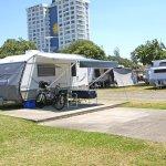 Burleigh Beach popular caravan sites