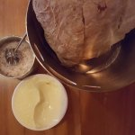 Bread with sweet butter and a salt cellar!