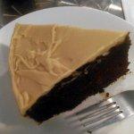 Homemade chocolate cake with caramel fudge icing. YUM!!
