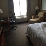 Horse statue, french toast, room photos.