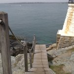 Wooden stairs to the light house.