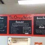 The Orange Works menu