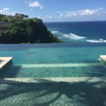 Clifftop horizon pool at Villa Abar