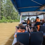 Chance for wildlife viewing on the speedboat to the lodge