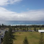 View of Broadbeach Beach, across the local school grounds.