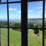 Vue chambre 4ème étage: golf + mer + deauville