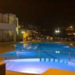 Pool at night from bar