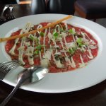 Entree, Carpaccio of Wagyu Beef, truffle dressing, caper aioli, baby roquette - MY FAVOURITE !