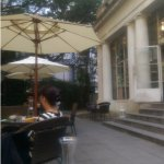 Cafe Lumiere has a lovely outdoor seating area