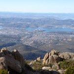 Fabelachtig mooi uitzicht op Hobart en omgeving.