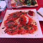Salade Tomate Mozzarella et Pizza Adriatica