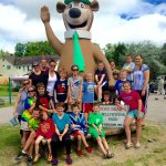 Group photo at Yogi Bear in Ashland, NH