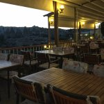 Goreme Kaya Otel Terrace early evening