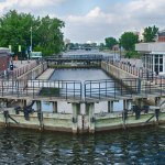 Lock at the Lachine Canal.