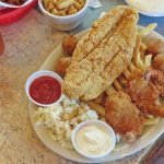 Fish and shrimp platter