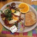Ranchero skillet has potatoes, shrimp and bacon! Amazing!