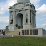 The Pennsylvania monument. You can take a spiral staircase to the top landing.