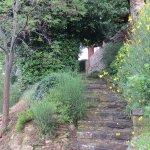 Escalier à partir de la piscine vers la terrasse.