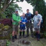 The four walkers in Brenda's garden