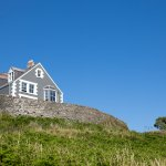 view of guest house looking up from coastal path