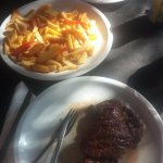 Steak mit Pommes