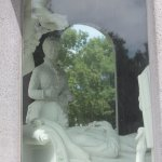 One of the most interesting monuments, learn, why the person laying down has his foot under his