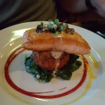 Salmon with Potato Rosti and Spinach