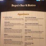Foto de Bapa's Bar & Bistro