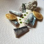 Cured mackerel with smoked mackerel rillette