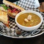 Split pea Soup with BLT Sandwich