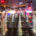 Beautiful colors of the fountain