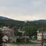 downtown Custer from my cabin's porch