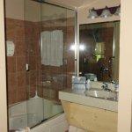 Lavatory, jet tub shower combo