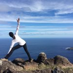 Yoga on a mountain top