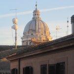 Dome of Carlo al Corso church from room in Hotel Fontalella Borghese