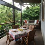Adorable balcony of Casa Mirador with super comfortable furniture!