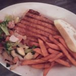 w upgrade of mixed veggies and sweet potato fried