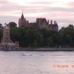 Boldt Castle view from dock/pool area