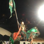 We were sitting in the green section rooting for the green knight.