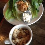 """Caesar salad -- and """"small bowl"""" we requested to share half of $10 worth of risotto"""