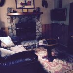 Living room with fireplace. Apparently you will it in November when the temperature drops with