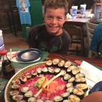 Tonight we had the sushi and it was great! It's only offered on Tuesdays after 5PM and get there