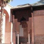 Facade in the Saadi tombs courtyard