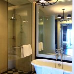 Shower and bathtub room