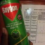 spray can given to us by hotel staff to kill mosquitoes...