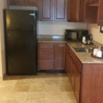 In suite kitchenette. Full sized refrigerator. .