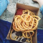 Onion rings on the beach