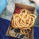 Onion rings on the beach
