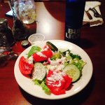 Great salad, tomatoes and bleu cheese were excellent