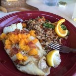 Butternut Squash Rosemary Crusted Whitefish